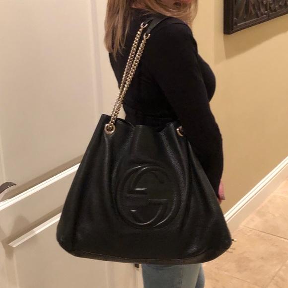 831c53482 Gucci Handbags - Gucci Soho Large Chain Strap Bag- Black